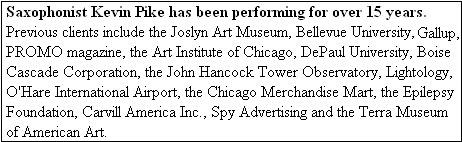 Previous clients include Gallup, the Joslyn Art Museum, Bellevue University, Lightology, DePaul University, the Epilepsy Foundation, Carvill America Inc., Boise Cascade Corporation, the Chicago Merchandise Mart, UBS and the John Hancock Tower Observatory